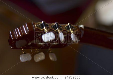 Acoustic Guitar's Fretboard Head