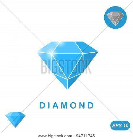 Adamant jewel isometric illustration, 3d vector, eps 10 poster