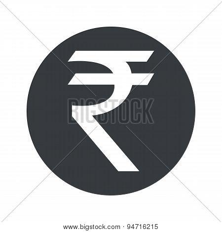 Monochrome round rupee icon