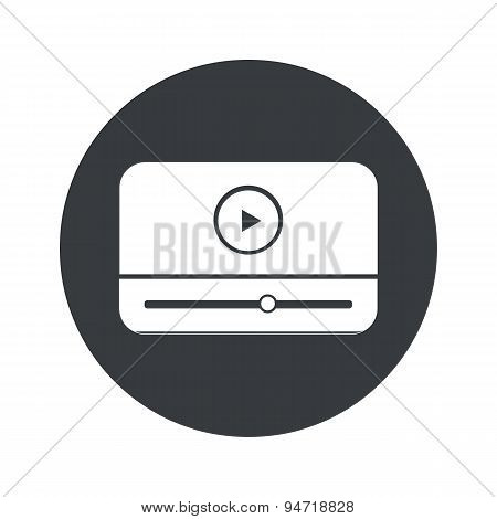 Monochrome round mediaplayer icon