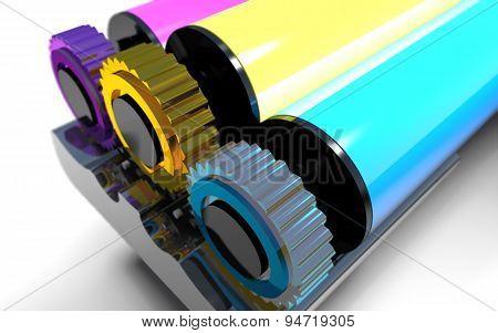 Rollers Of Printer.