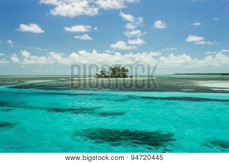 Photo Of An Island In The Middle Of The Ocean