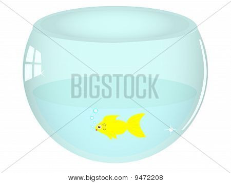 illustration of isolated fish bowl