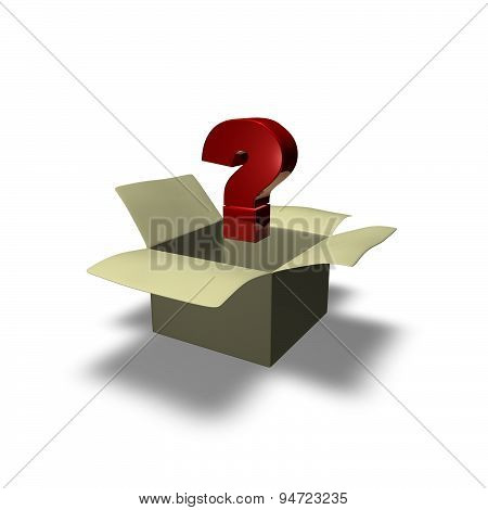 Frequently Asked Question Concept Illustration Isolated With Red Question Mark