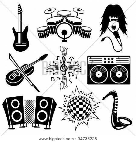Musical black icons