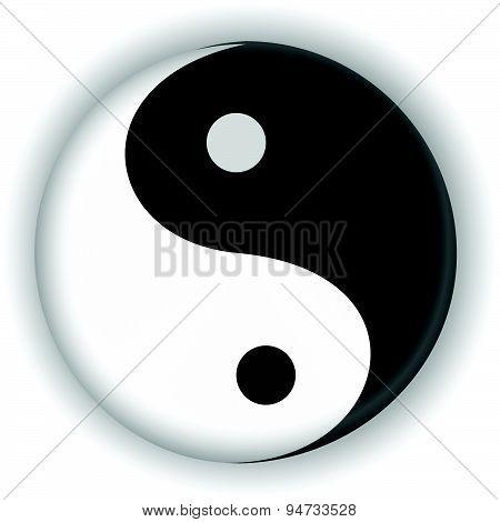 Yin Yang Ying Yang Symbol Vector Icon