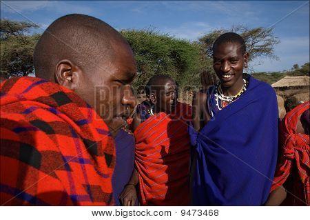 Maasai men.