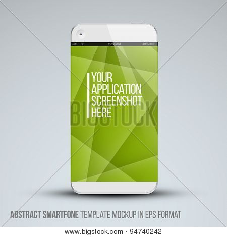 Modern abstract  smartphone mockup  with place for your application screenshot