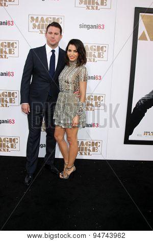 LOS ANGELES - JUN 25:  Channing Tatum, Jenna Dewan-Tatum at the