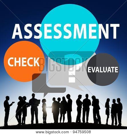 Assessment Calculation Estimate Evaluate Measurement Concept poster