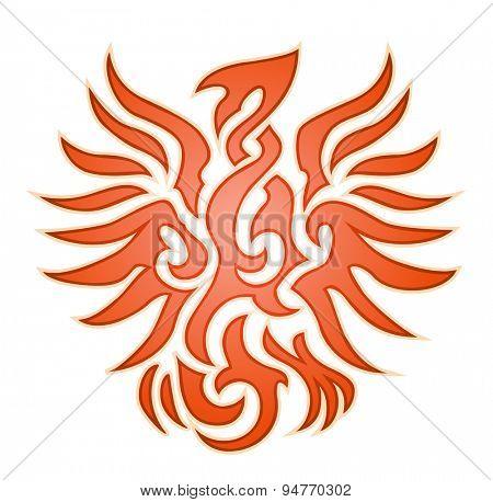 Orange eagle flame emblem
