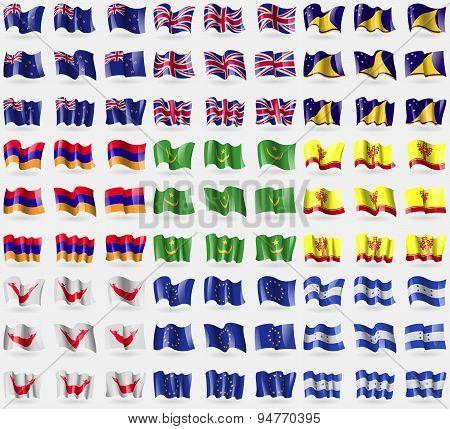 New Zeland, United Kindom, Tokelau, Armenia, Mauritania, Chuvashia, Easter Rapa Nui, European Union,