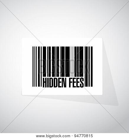 Hidden Fees Barcode Sign Concept