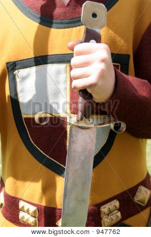 Knightly Clothing And A Sword