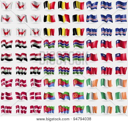 Easter Rapa Nui, Belgium, Cape Verde, Iraq, Gambia, Taiwan, Denmark, Eritrea, Ireland. Big Set Of 81