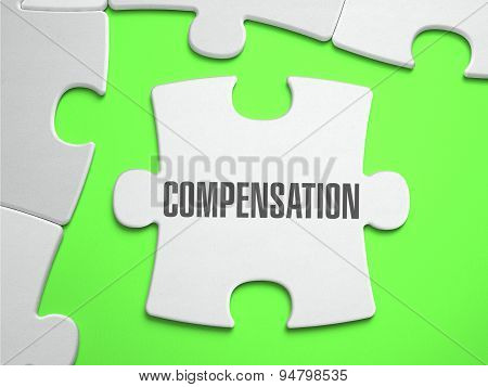 Compensation - Jigsaw Puzzle with Missing Pieces.
