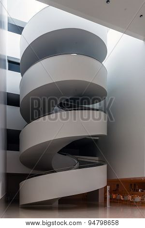 Stairs in the lobby of  The Szczecin Philharmonic Hall