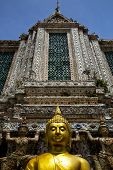 asia bangkok in temple thailand abstract cross colors roof wat and colors religion mosaic sunny poster