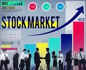 Stock Market Stock Exchange Trade Digital Concept poster