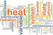 Background concept wordcloud illustration of heat poster
