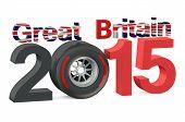 F1 Formula 1 Great Britain Grand Prix in Silverstone 2015 poster