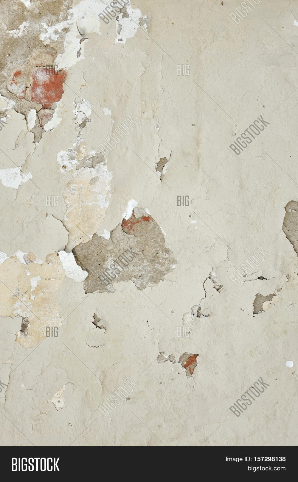 Dark Plaster Wall With Dirty White Black Scratched Vertical Texture Old Brickwall Peel Off