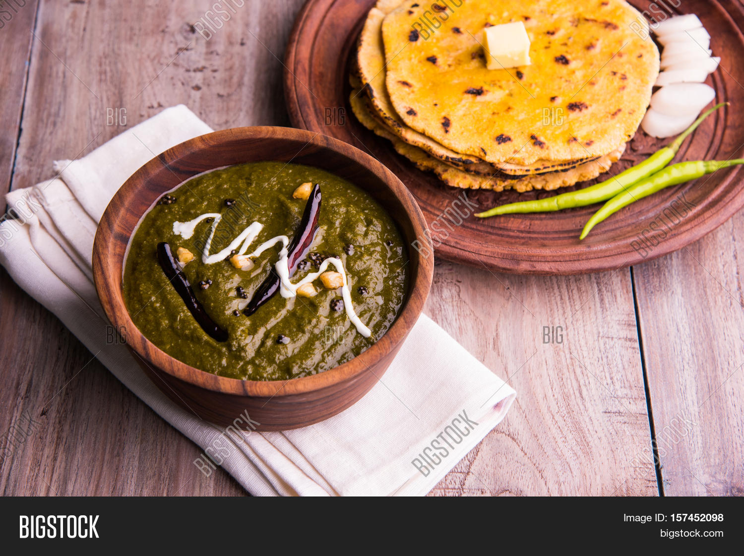 Corn flour flat bread image photo free trial bigstock corn flour flat bread or roti or makki ki roti with sarso da saag or mustard forumfinder Gallery