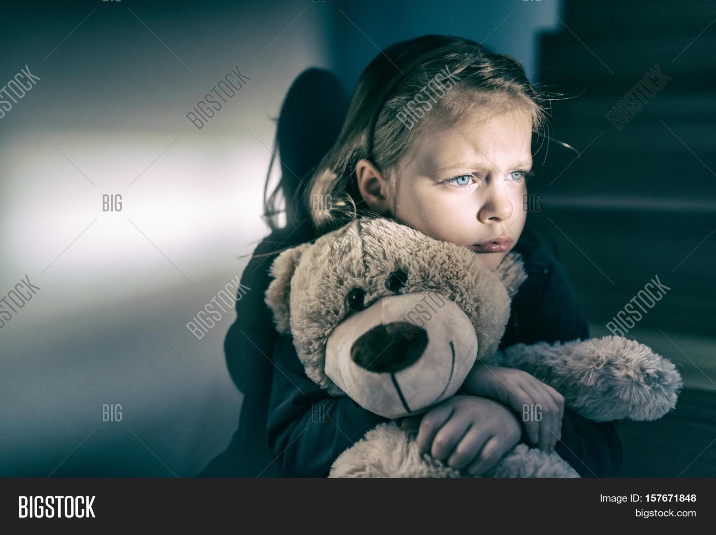 Sad Little Girl Image & Photo (Free Trial) | Bigstock