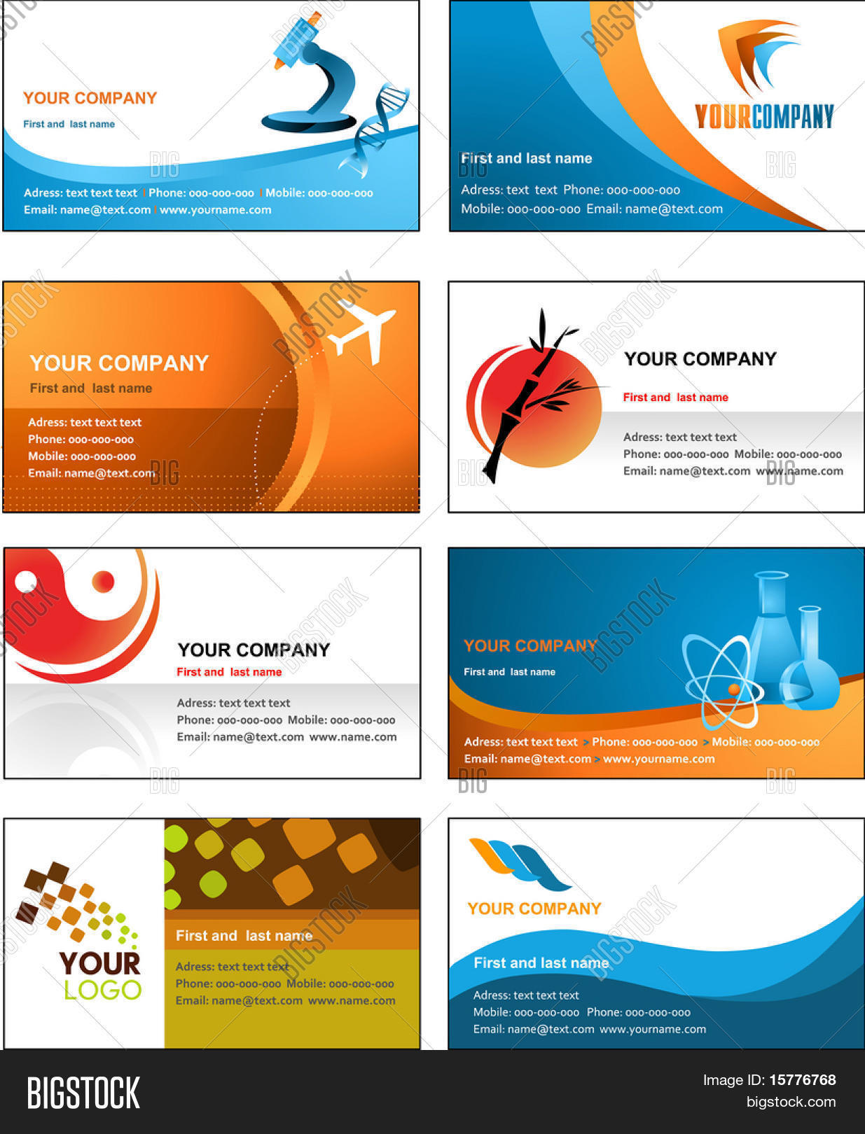 Business card vector photo free trial bigstock business card template design vector file cheaphphosting Gallery