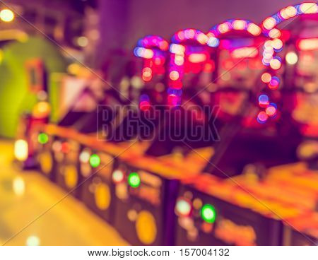Blur Arcade Game Machine Shop .