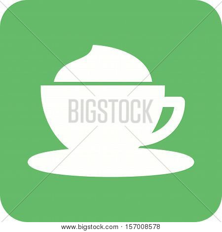 Coffee, creamy, cup icon vector image. Can also be used for coffee shop. Suitable for web apps, mobile apps and print media.