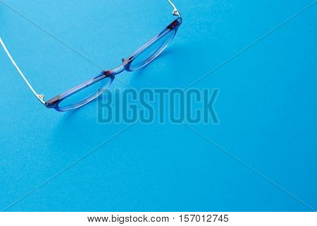 Spectacles with place for advertising