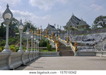 Wat Kaew temple in Krabi, Thailand. Wat Kaew: one of the main temples