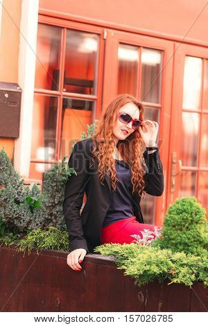 Young Red-haired Business Woman