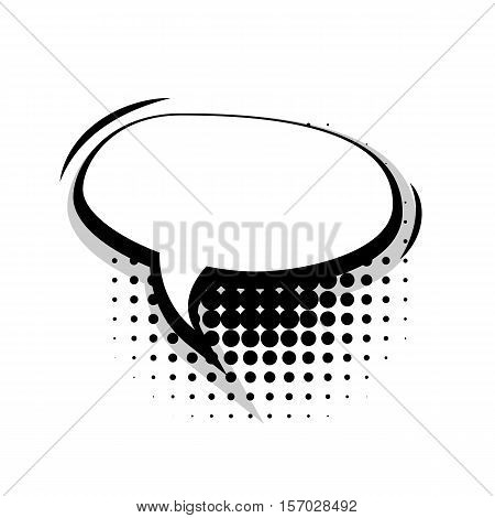 Blank template comic speech oval lines bubble halftone dot background style pop art. Comic dialog empty cloud, space text style pop art. Creative composition idea conversation comic sketch explosion