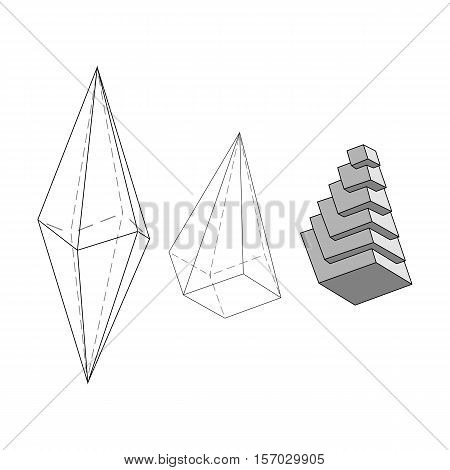 Illustration giving initial ideas about the internal structure of the crystal
