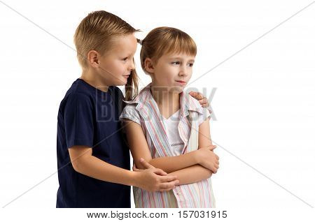 conflict between a boy and a girl. quarrels and offense