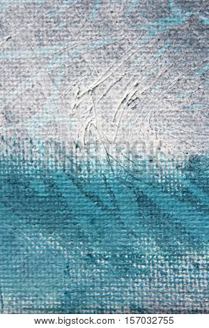 Blue Watercolour Textures on Canvas 5
