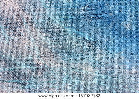 Blue Watercolour Textures on Canvas 1