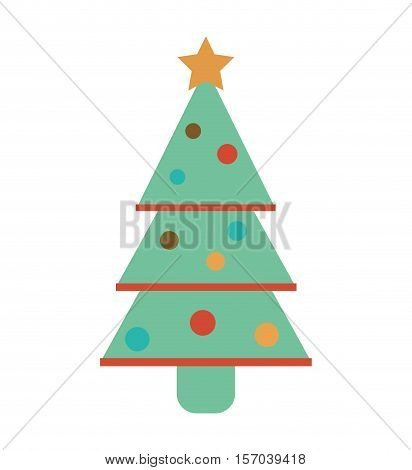 merry christmas card with decorative element vector illustration design