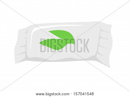 Wet wipes isolated on white. Antibacterial wet wipes hands and face moisturizing with aloe. For hand washing to decrease bacteria on skin. Decorative cosmetics. Part of series of face care. Vector