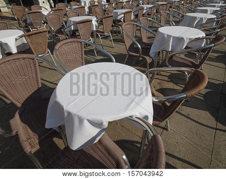 Many Tables And Chairs