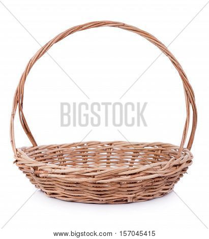 Closeup basket isolated on white background. basket isolated