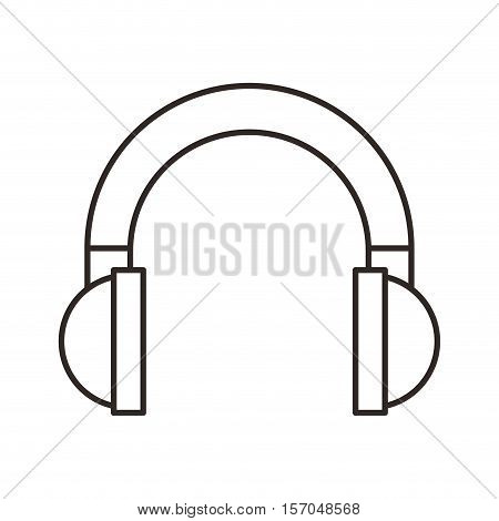 headset sound device isolated icon vector illustration design