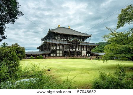 Todai-ji is a Buddhist temple complex japanese