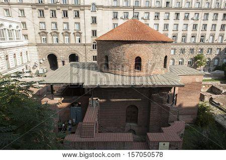 Exclusive View Of Rotunda Sveti Georgi St Gregory In Sofia Bulgaria