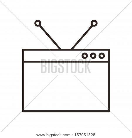 monitor desktop computer icon vector illustration design