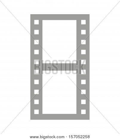 tape video record flat icon vector illustration design