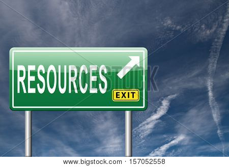 Resources human or natural resource sign this way