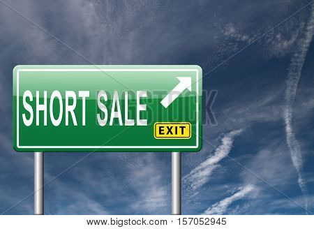 short sale reduced prices sales this way
